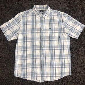 Men's Quiksilver Button Up Plaid Collared Shirt